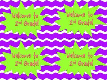 Welcome to - mini posters for welcoming students