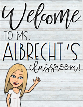 Welcome to my Classroom Bitmoji Poster (EDITABLE)