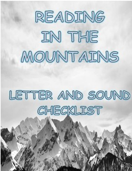 Letter and Sound Checklist