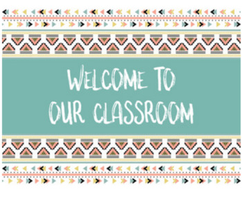 FREE Welcome to our Classroom Signs - 4 signs to choose from