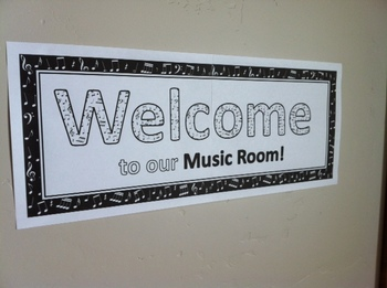 Welcome to our Music Room!   Poster FREEBIE