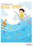 Welcome to our Music Room (Seven Colourful Posters)