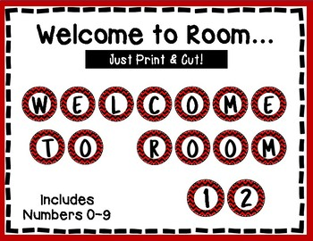 Welcome to our Room Banner - Bulletin Board