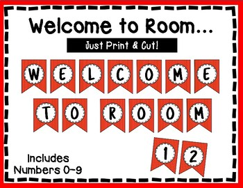 Welcome to our Room Banner - Bulletin Board - Red