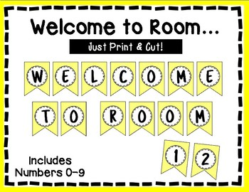 Welcome to our Room Banner - Bulletin Board - Yellow