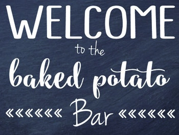Welcome to our buffet and bar sign-school event