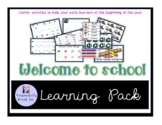 Welcome to school Learning Pack