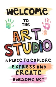 Welcome to the Art Studio Poster
