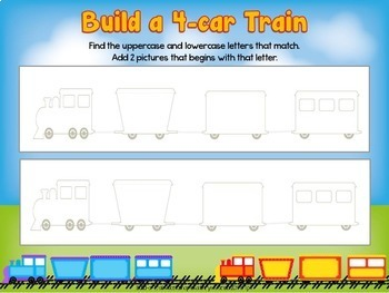 Letter / Sound Match with Transportation Train Theme
