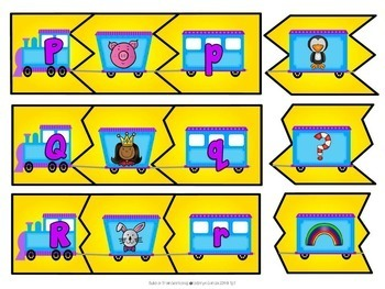 Upper Case Lower Case Letters | Beginning Sounds Trains Distance Learning
