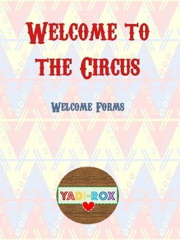 Welcome to the Circus - Back to School Forms (BILINGUAL)