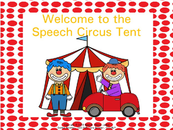 Welcome to the Circus Speech Therapy Decor