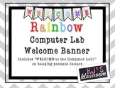 Welcome to the Computer Lab Pennant Banner