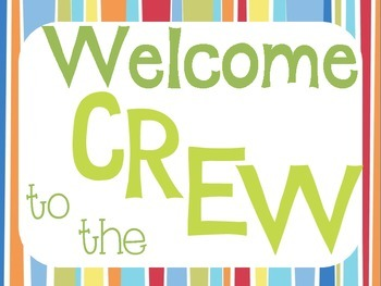 Welcome to the Crew signs