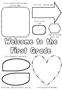 Welcome to the First Grade - Blackline Master by Helena