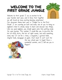 Welcome to the First Grade Packet