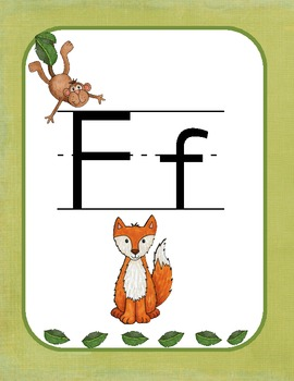 Welcome to the Jungle {Classroom Alphabet}