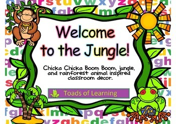Welcome to the Jungle classroom decor