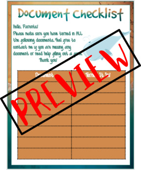 Welcome to the Ocean - Back to School Forms (BILINGUAL)
