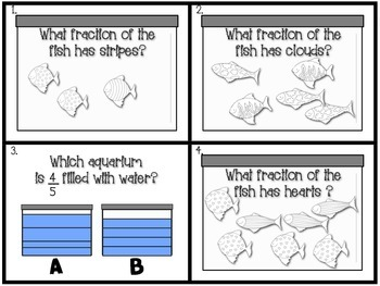 Welcome to the School of Fractions! 2 Activity Sets with Challenge Sheets