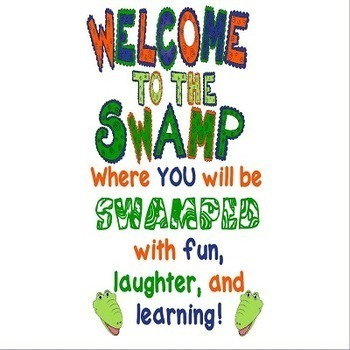 Welcome to the Swamp Classroom Poster Set