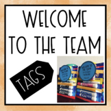 Welcome to the Team tags Freebie