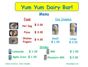 Welcome to the Yum Yum Dairy Bar!