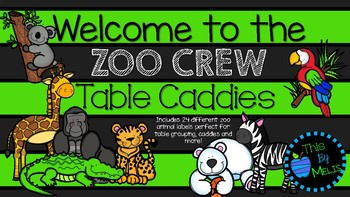 Welcome to the ZOO CREW Caddy Labels