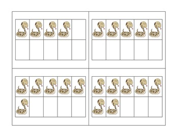 Welcome to the Zoo! 18 Different Sets of Ten Frames 0-10