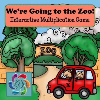 Interactive Multiplication Game- We're Going to the Zoo!