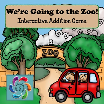 Interactive Addition Games-Going to the Zoo Bundle sums to 15 & sums to 100