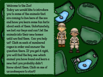 Welcome to the Zoo! Interactive Subtraction Games