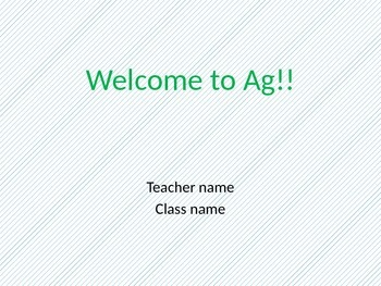 Welcome to this class PP