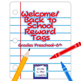 Back to School Reward Tags