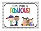 Welcome/Writing Sample Post Cards - Grades 1,2,3,4,5