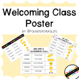 Welcoming Class Poster