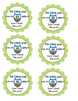 Welcoming Hooter (Owl) Cards For the Begging of the Year