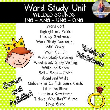 Welded/Glued Sounds Word Study & Word Work:  Activities and Printables!