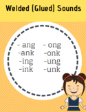 Welded (Glued) Sounds ang, ank, ing, ink, ong, onk, ung, unk