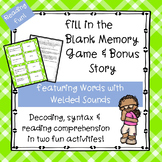 Welded Sounds Fill-in-the-Blank Memory Game & Bonus Story