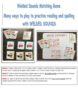 Welded Sounds Step 2.1 (glued sounds)  Matching - Spelling and Reading Practice