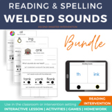 Welded Sounds Activities for all, ang, ank, ing, ink