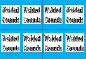 Welded Sounds -Step 2.1- (glued sounds) Sentence Format  Matching Game