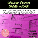 Welded Sounds Word Work and Sentences