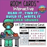 Welded Sounds -ng, -nk Boom Cards™ Phonics Read, Find, Bui