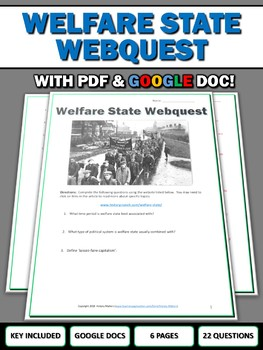 Welfare State - Webquest with Key (Google Doc Included)