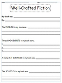 Well Crafted Fiction Immersion Worksheet
