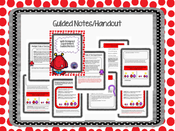 Well-Designed Experiment Guided Notes and Flipchart Bundle