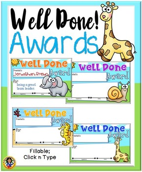 Well Done! Awards