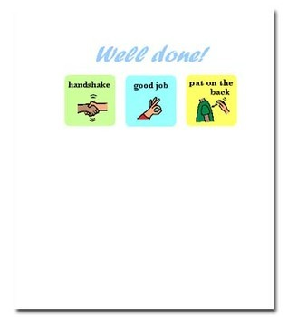 Well Done! Note Card - Made with Picture Symbols